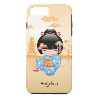 Maiko Kokeshi Doll - Cute Japanese Geisha Girl iPhone 8 Plus/7 Plus Case