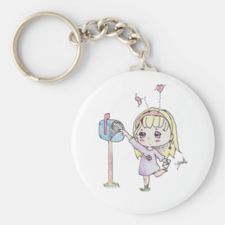 mail box girl keychain