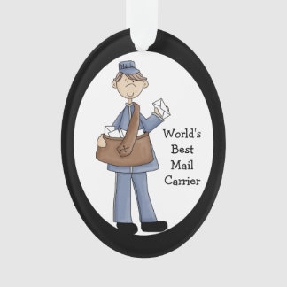 Mail Carrier Acrylic Thank You Ornament