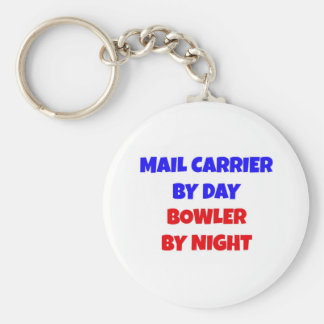 Mail Carrier by Day Bowler by Night Keychain