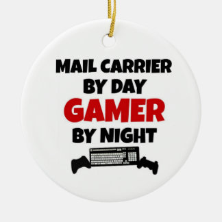 Mail Carrier by Day Gamer by Night Ceramic Ornament
