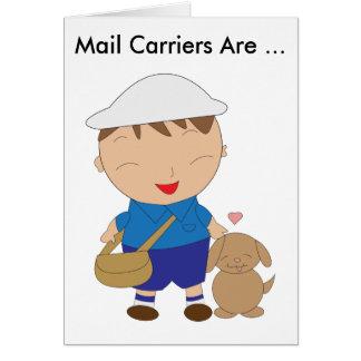 Mail Carrier Postal Worker Appreciation Card
