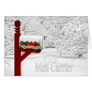 Mail Carrier / Postal Worker Christmas Greeting Card