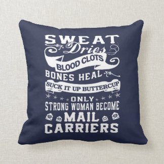 Mail Carrier Woman Throw Pillow