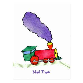 Mail Choo Choo Train Postcard