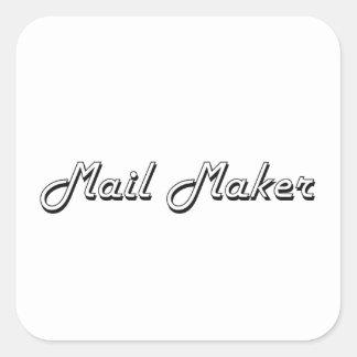 Mail Maker Classic Job Design Square Sticker