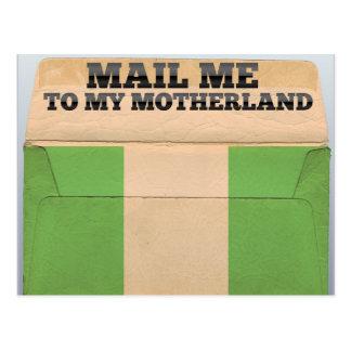 Mail me to Nigeria Postcard