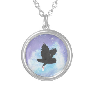 Mail Owl Silver Plated Necklace