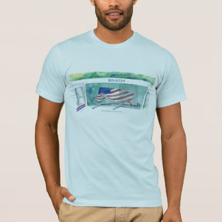 Mail Postal Truck and Flag T-shirt