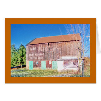 Mail Pouch barn on the National Pike Card