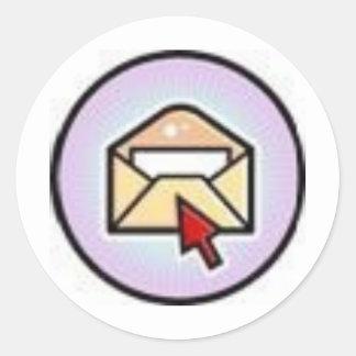 mail round sticker