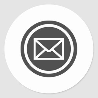 Mail Sign Round Sticker