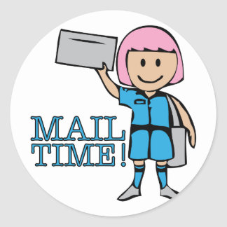 Mail Time Classic Round Sticker