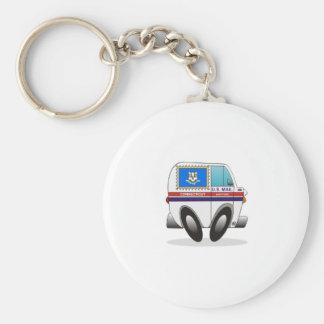 Mail Truck CONNECTICUT Keychain