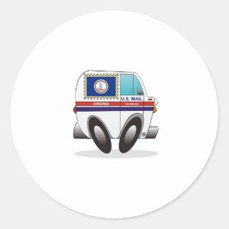 Mail Truck VIRGINIA Round Sticker