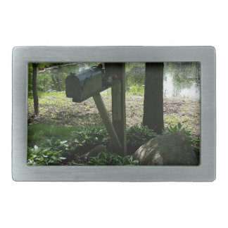 Mailbox by the pond belt buckles