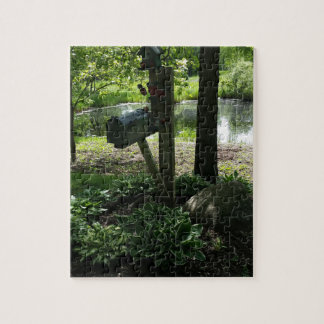 Mailbox by the pond jigsaw puzzle