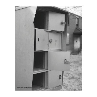 Mailbox in Black and White Canvas Print