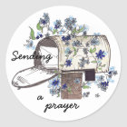 Mailbox Prayer Classic Round Sticker