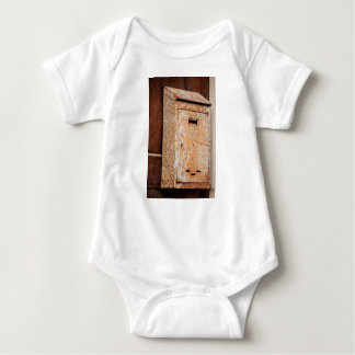 Mailbox rusty outdoors baby bodysuit