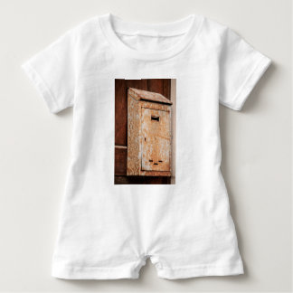 Mailbox rusty outdoors baby romper