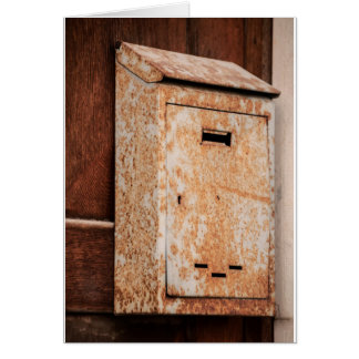 Mailbox rusty outdoors card