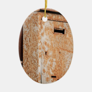 Mailbox rusty outdoors ceramic oval ornament