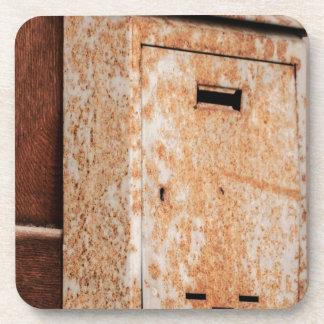 Mailbox rusty outdoors coaster
