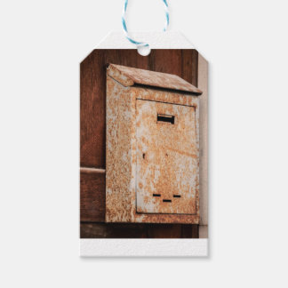Mailbox rusty outdoors gift tags