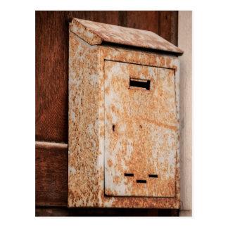 Mailbox rusty outdoors postcard