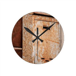 Mailbox rusty outdoors round clock