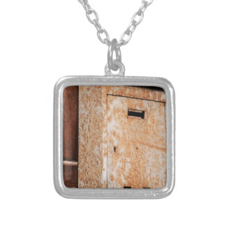 Mailbox rusty outdoors silver plated necklace