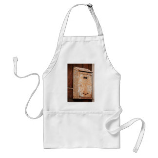 Mailbox rusty outdoors standard apron