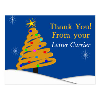 Letter Carrier Thank You For Gift Card