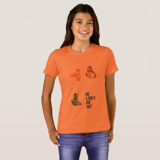 """""""M'aime…"""" Filles' Bella+T-shirt d'équipage de T-shirt"""