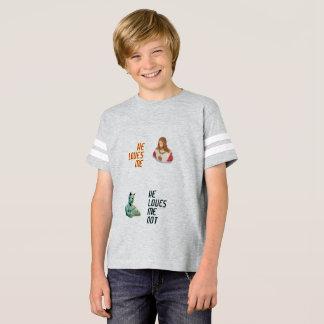 """""""M'aime… M'aime pas…"""" Chemise du football de T-shirt"""