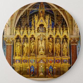 Main Altar In Votivkirche, Vienna Austria 6 Inch Round Button