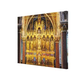 Main Altar In Votivkirche, Vienna Austria Canvas Print