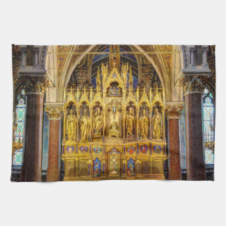 Main Altar In Votivkirche, Vienna Austria Kitchen Towel