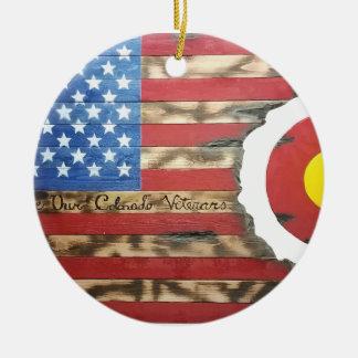 Main_Colorado_Veterans Ceramic Ornament