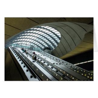 Main Entrance to Canary Wharf Station Card