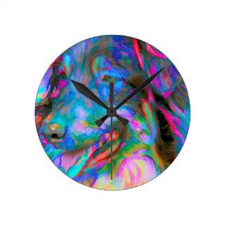Main Man Round Clock