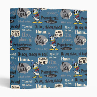 Main Mickey Shorts | Donald Duck Blue Pattern Vinyl Binder