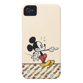 Main Mickey Shorts | Mickey Pointing Out iPhone 4 Case-Mate Cases