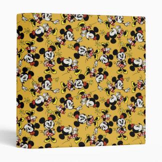 Main Mickey Shorts   Minnie Mouse Orange Pattern Binder