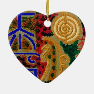 Main ReikiHealingArt Symbol Ceramic Heart Ornament