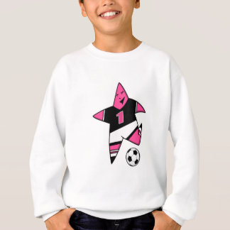 MAIN soccer girl star 4 Sweatshirt