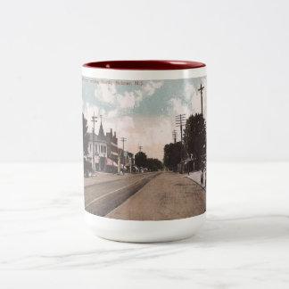 Main St., Belmar, New Jersey Vintage Two-Tone Coffee Mug