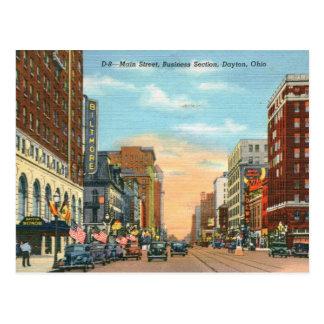 Main St., Dayton, Ohio Vintage Postcard