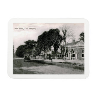 Main St., East Hampton, NY Vintage Rectangular Photo Magnet